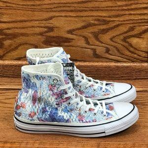 Converse CTAS Hi Spray Paint Blue White Inked Shoe NWT